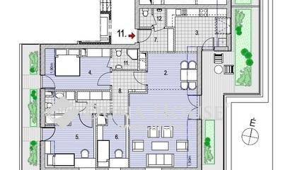 Eladó Lakás, Budapest, 2 kerület, Zöldmálon 11 lakásos társasház legfelső emeletén