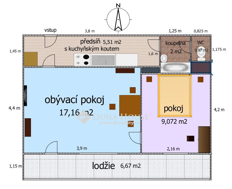 Prodej bytu, Hurbanova, Praha 4 Krč