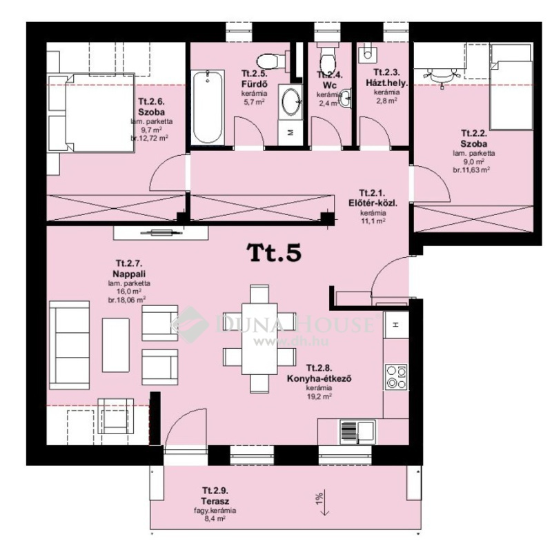 Eladó Lakás, Bács-Kiskun megye, Kecskemét, Modern, értékálló új építésű lakás a belvárosban