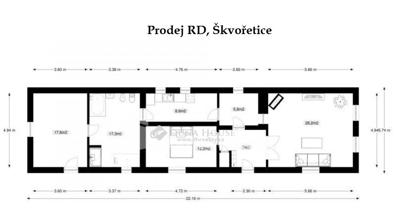 Prodej domu, Škvořetice, Okres Strakonice