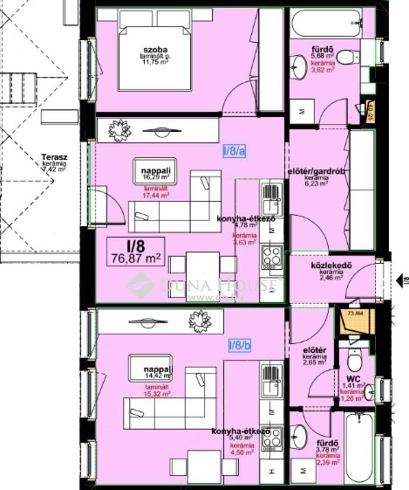 Eladó Lakás, Budapest, 8 kerület, Újépítésű duplex, a legújabb technológiákkal