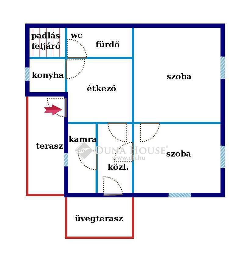 Eladó Ház, Bács-Kiskun megye, Jakabszállás, Jakabszálláson 2 szoba-étkezős ház nagy telken
