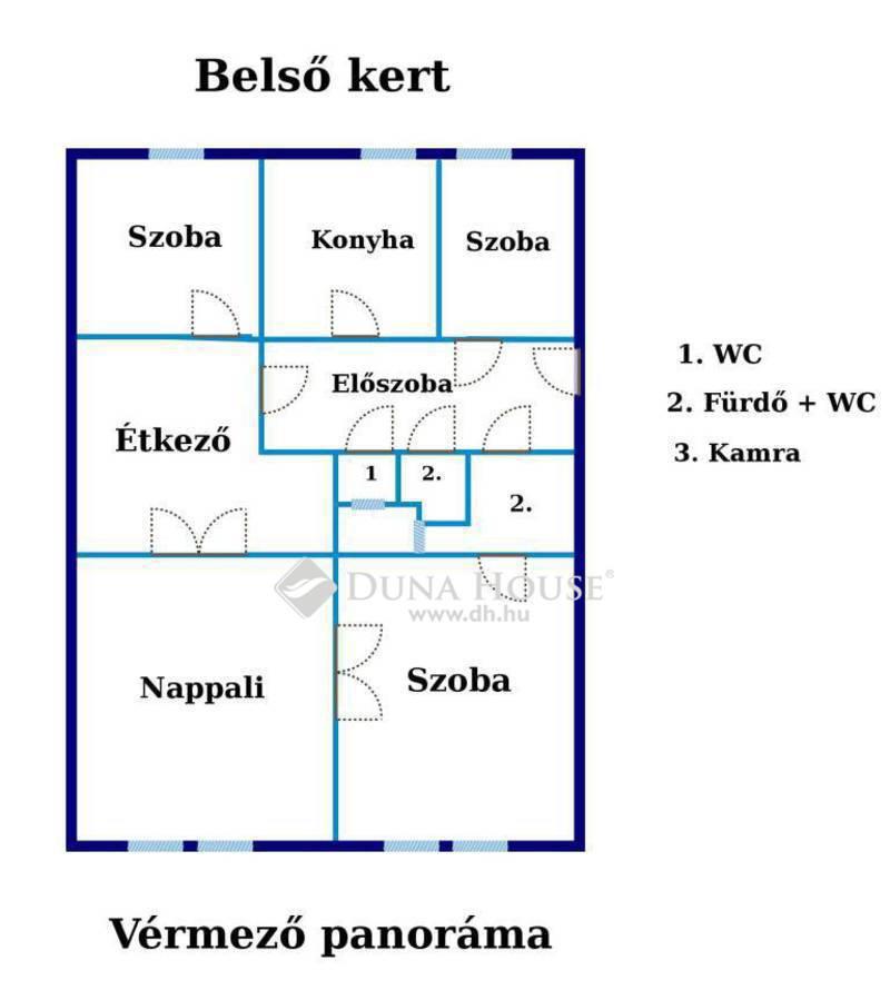 Eladó Lakás, Budapest, 1 kerület, CSODÁS KILÁTÁSSAL A VÉRMEZŐRE