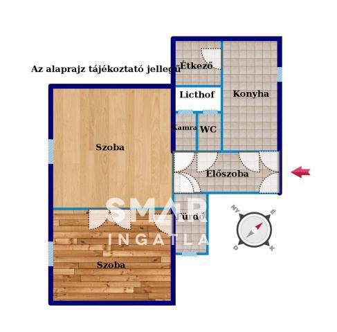 Eladó Lakás, Budapest, 9 kerület, Tinódi parkra néző felújított napos 2+1fél szoba