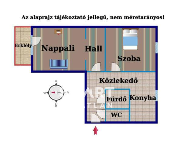 Eladó Lakás, Győr-Moson-Sopron megye, Győr, Azonnal költözhető erkélyes 2 szobás lakás!