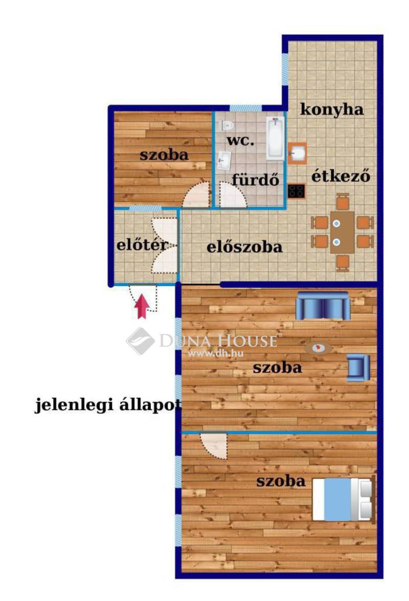Eladó Lakás, Budapest, 6 kerület, Színháznegyedben, 60 m2 es, 2+1 szobás