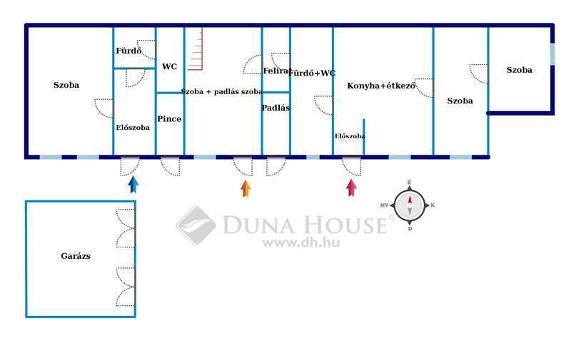 Eladó Ház, Budapest, 19 kerület, Jó állapotú, kis lakásokra bontható ház.