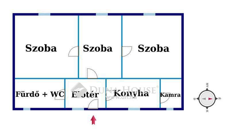 Eladó Ház, Csongrád megye, Csongrád, Háromszobás, jó állapotú családi ház