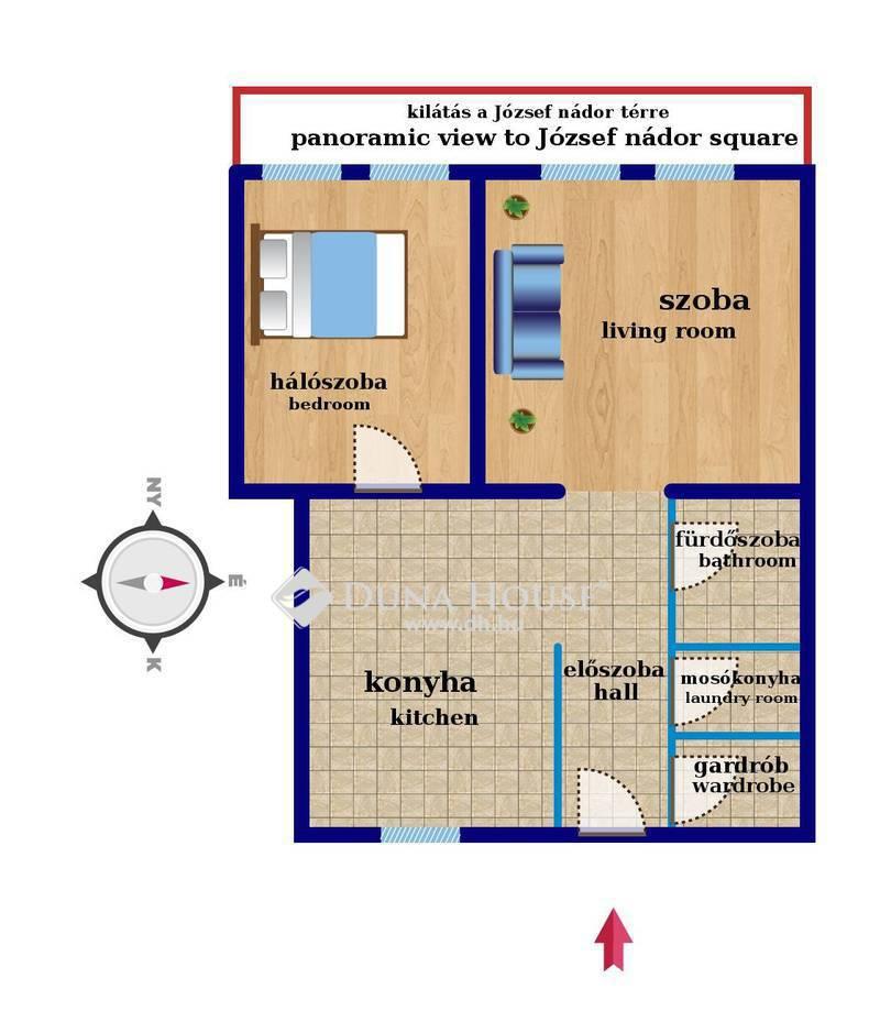 Eladó Lakás, Budapest, 5 kerület, TÉRRE néző, PANORÁMÁS, magas emeleti EXTRA lakás