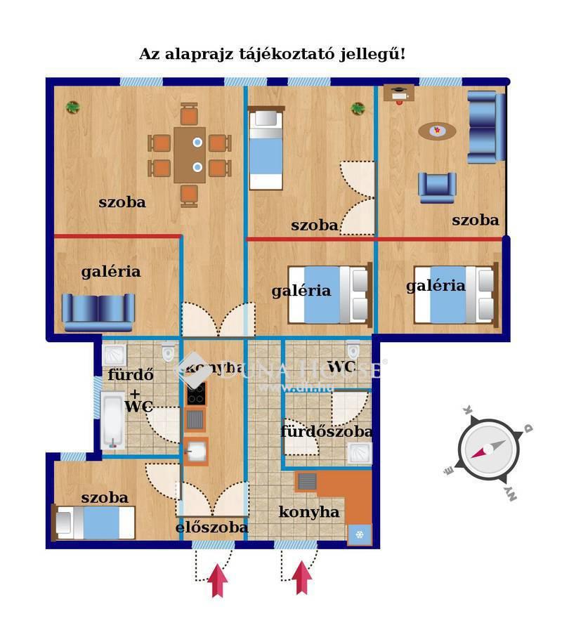 Eladó Lakás, Budapest, 6 kerület, 2 lakás egyben külön bejárattal a Nyugatinál!