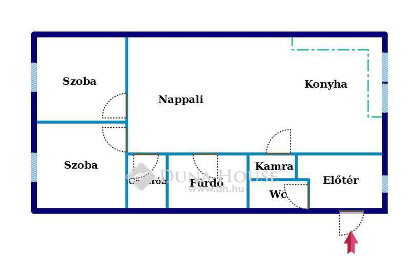 Eladó Lakás, Bács-Kiskun megye, Kecskemét, Kecskeméttől 10 percere - 1.em. nappali + 2 szoba