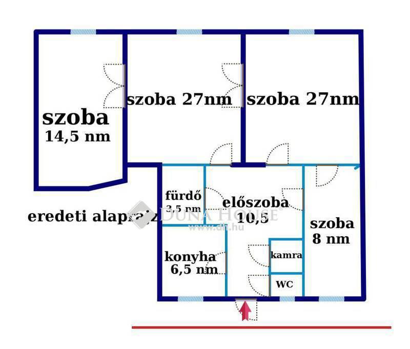 Eladó Lakás, Budapest, 13 kerület, Körúthoz közel,utcai nézetű,100NM, jó állapotban