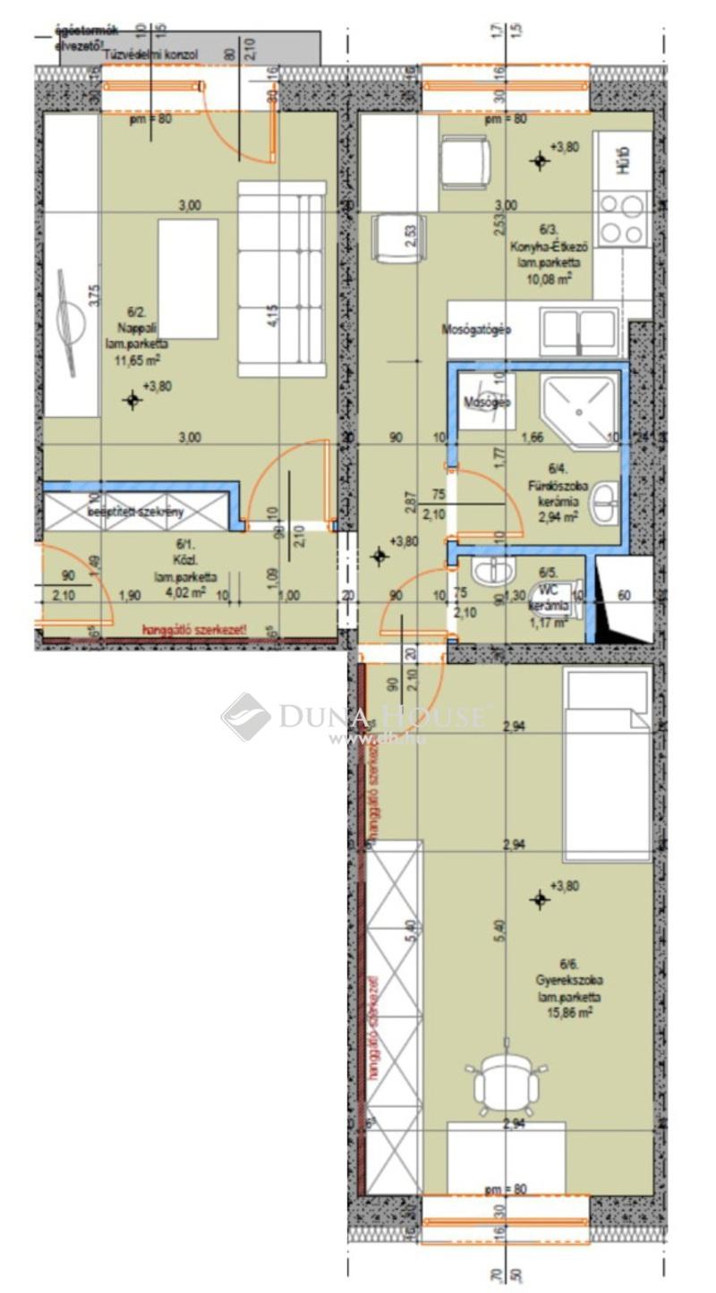 Eladó Lakás, Bács-Kiskun megye, Kecskemét, Teljes körűen felújított 1. emeleti 2 szobás