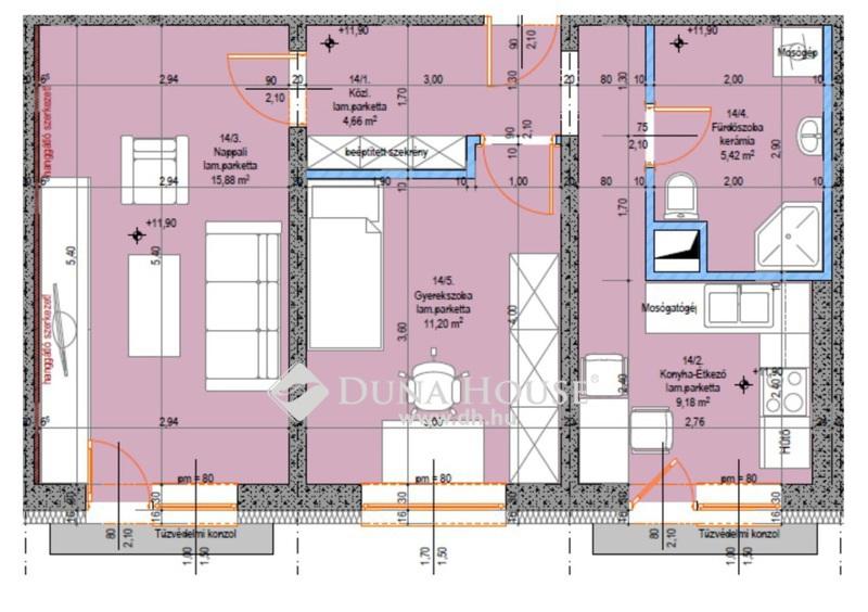 Eladó Lakás, Bács-Kiskun megye, Kecskemét, Teljes körűen felújított 4. emeleti 2 szobás