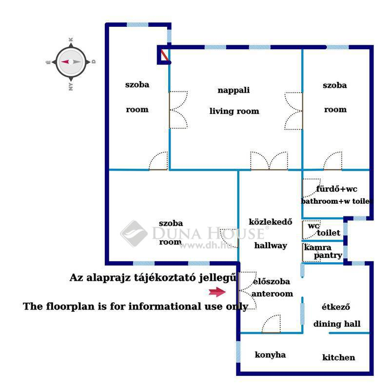 Eladó Lakás, Budapest, 7 kerület, Almássy térre néző - napfényes - 4 szobás lakás