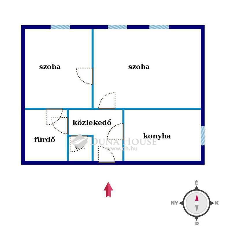 Eladó Lakás, Budapest, 20 kerület, Áresés Baross utca 2 szobás, ablakos konyhás