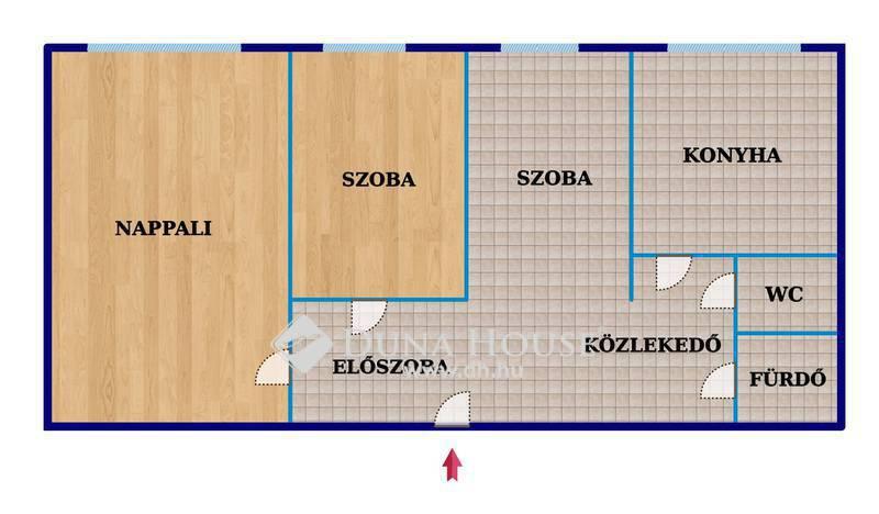 Eladó Lakás, Budapest, 19 kerület, Panelprogramos házban, 1+2 szobás, nagykonyhás