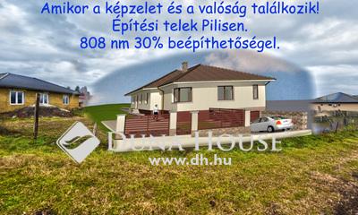 Eladó Telek, Pest megye, Pilis, Közel a vasútállomáshoz 16 m utcafronttal