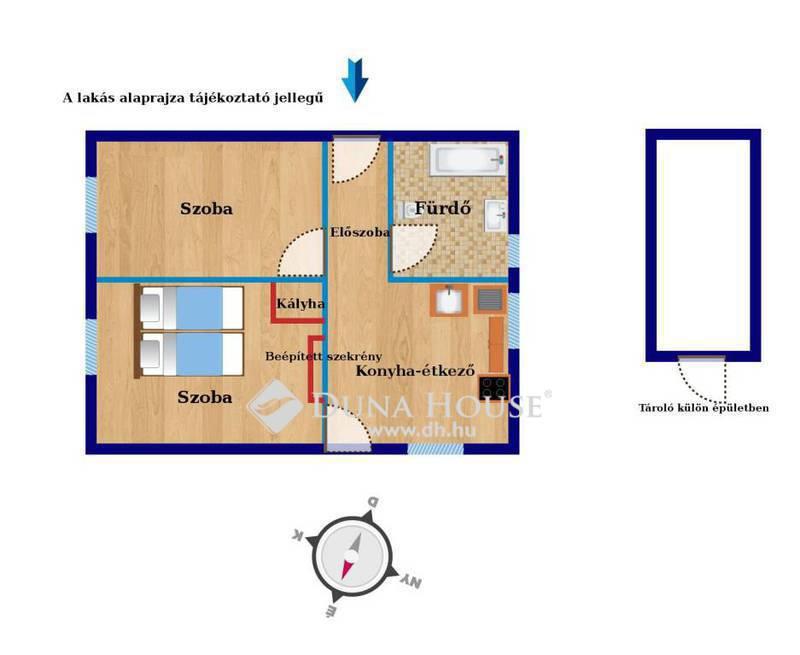 Eladó Lakás, Veszprém megye, Veszprém, Patakparti, erdő melletti két szobás lakás