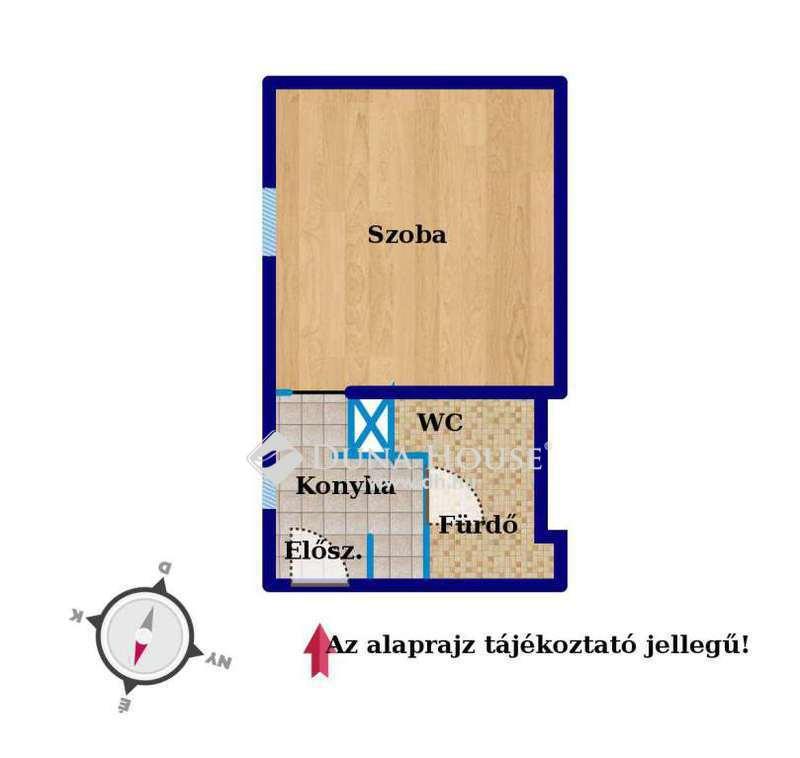 Eladó Lakás, Budapest, 1 kerület, Logodi, 29nm, fél emelet, teljeskörűen felújított