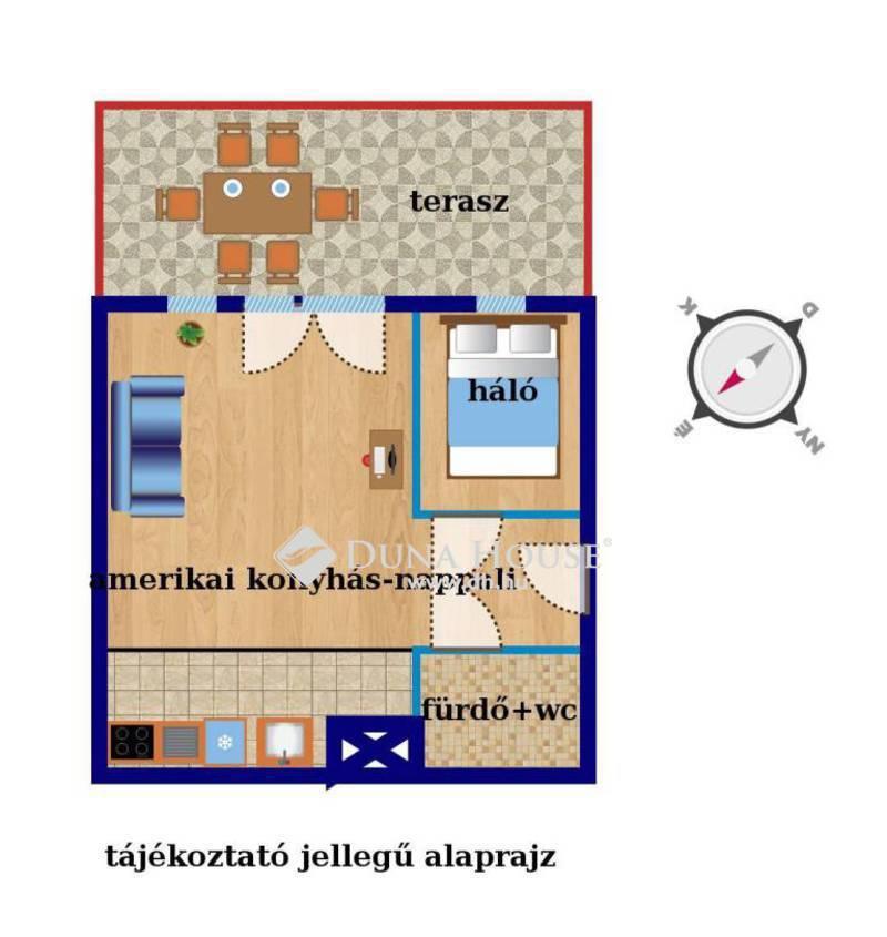 Eladó Lakás, Budapest, 15 kerület, Nagy teraszos másfél szobás újszerű otthon
