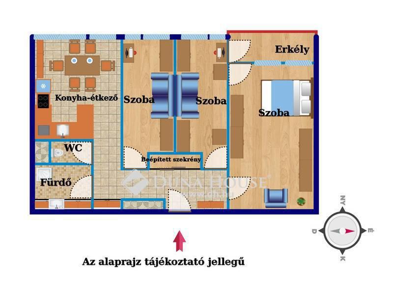 Eladó Lakás, Zala megye, Zalaegerszeg, Landorhegyi,1+2 félszobás, erkélyes