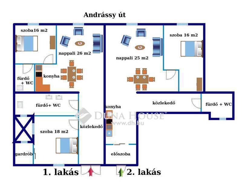 Eladó Lakás, Budapest, 6 kerület, Andrássy út*2 lakás*egyben*minimál *berendezett