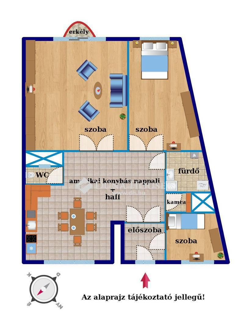 Eladó Lakás, Budapest, 14 kerület, 3 külön nyíló szoba, tágas, napfényes terek!