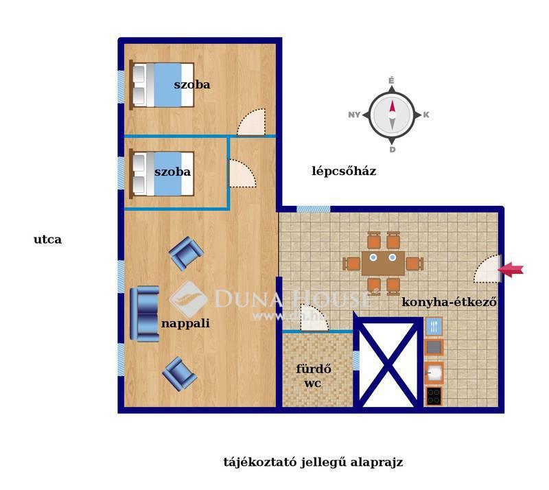 Eladó Lakás, Budapest, 5 kerület, Váci utca, nappali+2 háló magas emeleten bútorozva