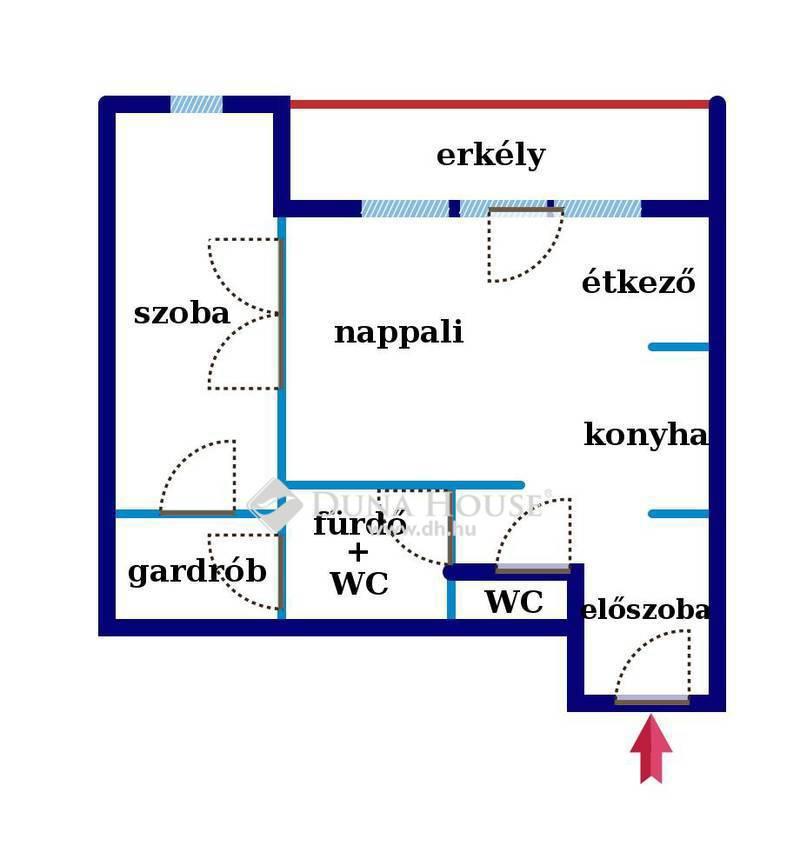 Eladó Lakás, Budapest, 13 kerület, 53 nm*felújított házban*nagy erkélyes*