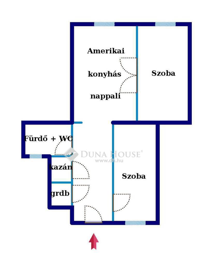 Eladó Lakás, Budapest, 9 kerület, Ráday utca, felújított, nappali + 2 szobás