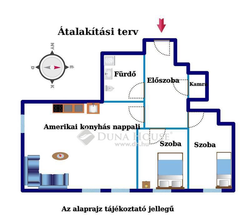 Eladó Lakás, Budapest, 11 kerület, Egyetem közelében 3 szobássá alakítható