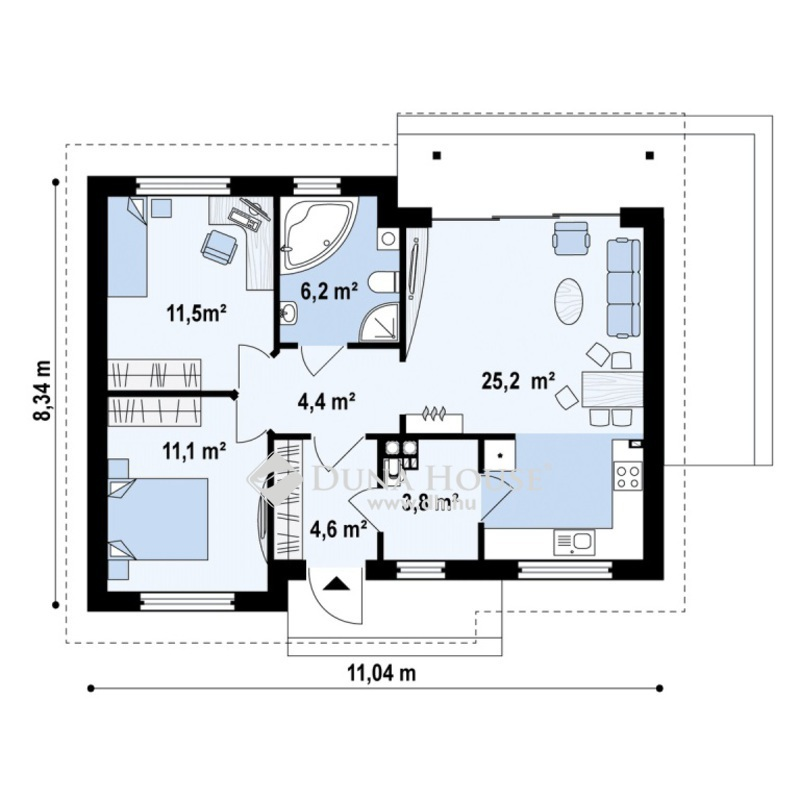 Eladó Ház, Bács-Kiskun megye, Kecskemét, Vacsiközben 66 m2-es, új, 4kW napelemes téglaház