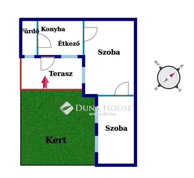 Eladó Lakás, Budapest, 15 kerület, NAPFÉNYES 2 szobás lakás kis KERTTEL