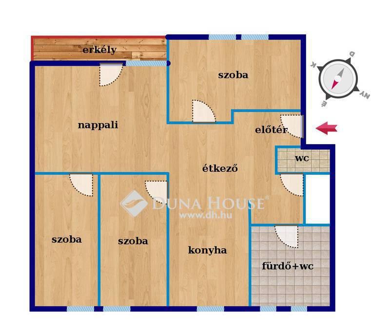 Eladó Lakás, Bács-Kiskun megye, Kecskemét, 3 szoba+hall+garázs+tároló, újszerű állapot