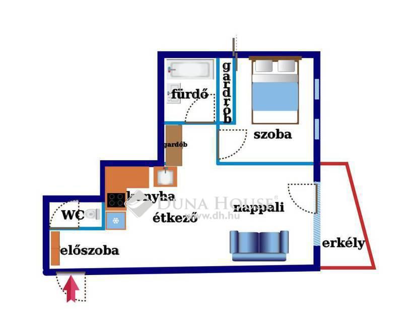 Eladó Lakás, Budapest, 13 kerület, KLEOPÁTRA-HÁZ*43nm*bútorozott*TRENDI lakás