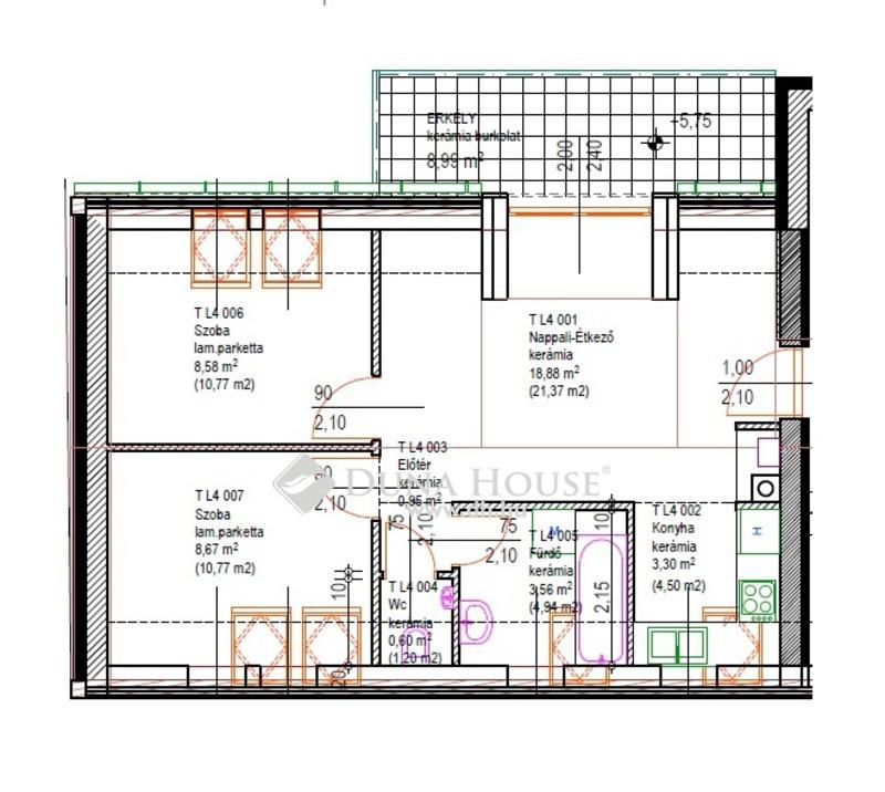 Eladó Lakás, Bács-Kiskun megye, Kecskemét, Nappali + 2 szoba, erkélyes - 2. emelet