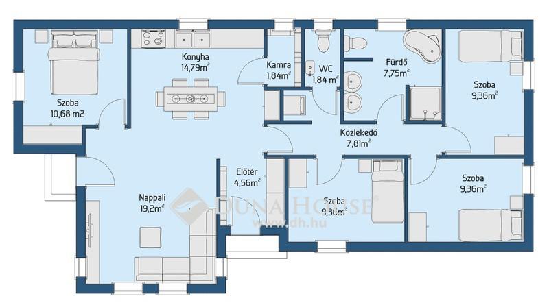 Eladó Ház, Bács-Kiskun megye, Kecskemét, 100-nm-es ház, 650 nm-es telekkel - Ballószög