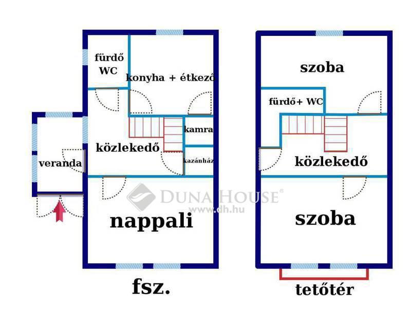 Eladó Ház, Budapest, 2 kerület, Hidegkúti úton nappali+2 hálós ikerházrész